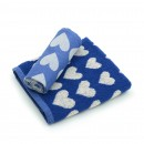 Hand- en Theedoek Hearts Royal Blue