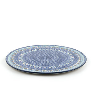 Pizza Plate Blue Coral
